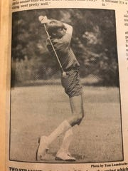 Craig Yuhas as a high-school golfer, and apparently as someone who didn't like food.