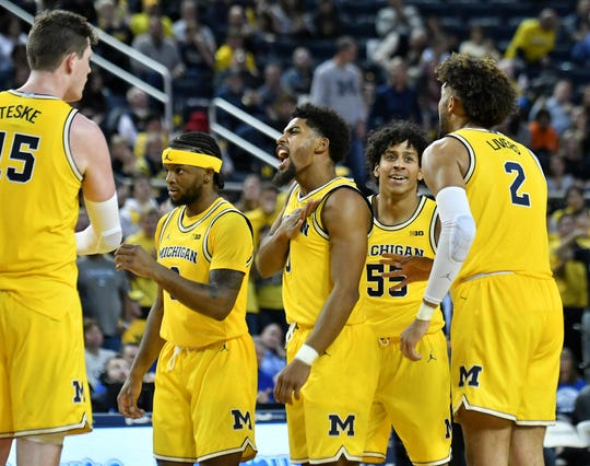 The Michigan men's basketball team was a No. 1 seed in the men's NCAA academics bracket.