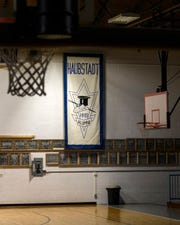 The old Haubstadt High School gymnasium in Haubstadt, Ind. The 1961 school basketball team won the the only sectional title in school history by beating Fort Branch in triple overtime with a final score of 14-12.