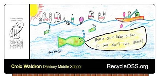 Danbury Middle School student Croix Waldron was one of the winners in the OSS Billboard Contest in Ottawa County.