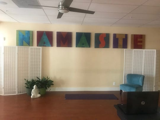 This is a photo taken inside the Yoga Bird studio in Fort Myers, which now remains closed due to the coronavirus.
