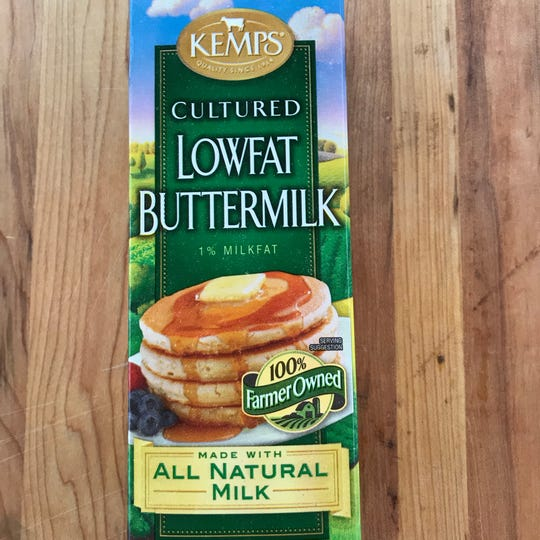 This week's No Budget Cooking Series recipe for pancakes comes from this container of Kemps buttermilk.