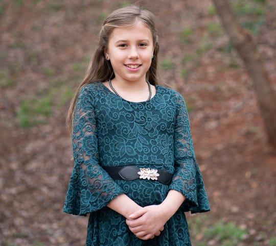 Olivia Battocchio of Jesse Boyd Elementary School