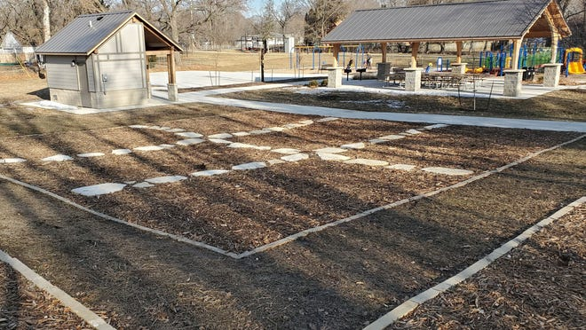 The lot for Iowa City's edible forest in Creekside Park prior to the eventual planting of trees and other planets on April 4, 2020.