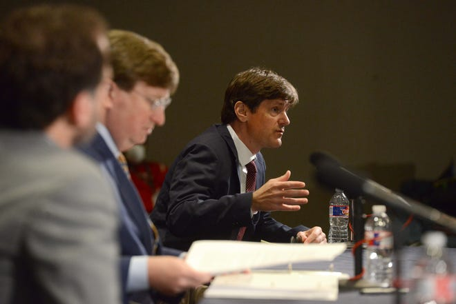 Mississippi State Health Officer Dr. Thomas Dobbs speaks during a recent news conference about the coronavirus.
