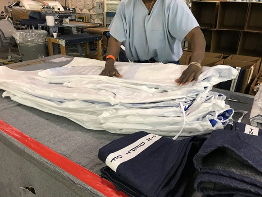 The Tennessee Department of Correction estimates more than 200 gowns and between 1,000 and 1,500 masks are being made each day in two facilities in the state by inmates.