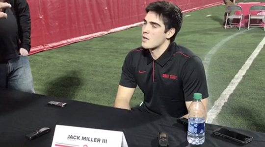 OSU freshman Jack Miller excited about challenging fellow frosh C.J. Stroud for starting QB job as early as 2021, but sees benefit of transfer portal