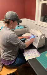 Katie Hamilton of Ontario, a speech therapist who is currently a stay-at-home mom, is making masks at her residence and donating them to the Richland County Coroner's Office and Richland County Sheriff's office, friends and family, ER nurses, midwives and more.
