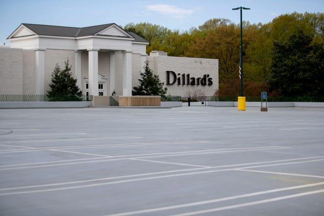 Oak Court Mall sits empty Thursday, April 2, 2020, in Memphis.