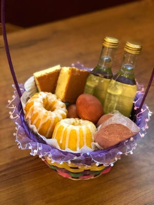 The takeout Easter dinner at Polonez in St. Francis comes with a basket that includes cake, veal liver pate and wine. The restaurant's 500 orders sold out by April 6.