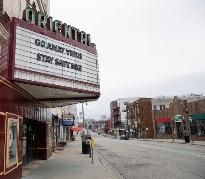Milwaukee's Oriental Theatre closed March 14, before the statewide stay-at-home order went into effect.