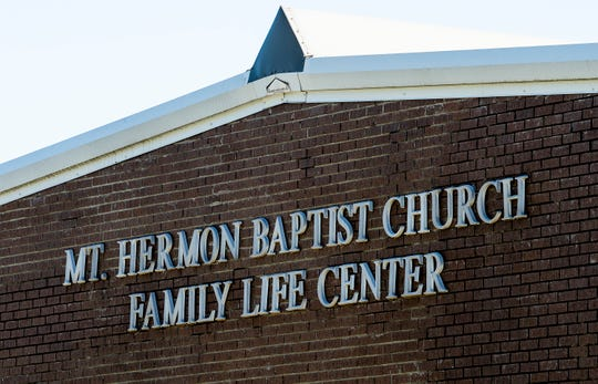 Mount Hermon Baptist Church in Lanett, Ala., on Thursday April 2, 2020. Several members of the church have become infected by the coronavirus.