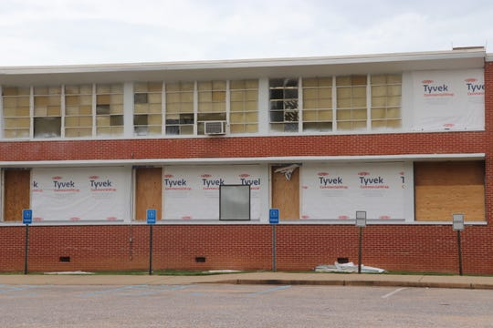 The gym, library, hallways, offices, restrooms, and 34 classrooms are under renovation at Pike Road High School.