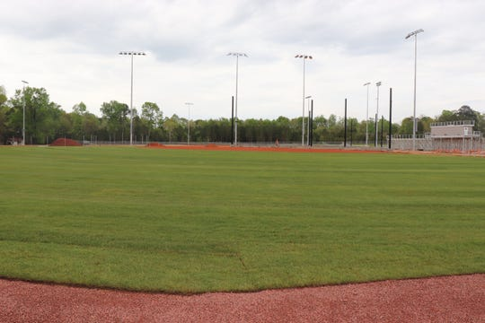 Sod is now in place on the softball field where three teams and about 50 girls play, said Brooke Watson, head Pike Road High School softball coach.