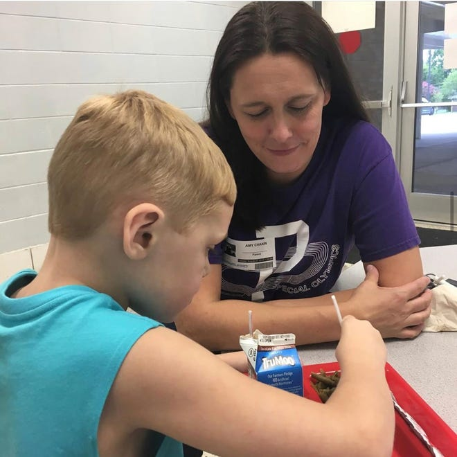 Hendersonville's Amy Chanin with her son Ethan. Chanin has launched a Facebook group for parents with children who have special needs that has surpassed 1,000 members.
