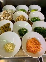 Ingredients for make-at-home green curry from Sinema Chef Kyle Patterson