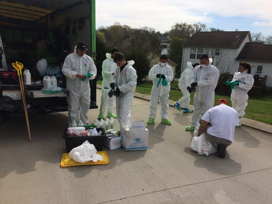 ServPro, a cleaning service headquartered in Gallatin, cleaned and disinfected a Hendersonville Fire station, apparatus and response gear amid the COVID-19 pandemic on Thursday, April 2.