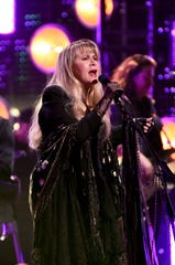Inductee Stevie Nicks performs at the  2019 Rock & Roll Hall Of Fame Induction Ceremony - Show at Barclays Center on March 29, 2019 in New York City. (Photo by Dimitrios Kambouris/Getty Images For The Rock and Roll Hall of Fame)