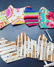 Face masks sewn by Cloudcroft resident Tabitha Foster. Courtesy photo.