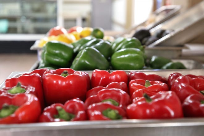 The coronavirus pandemic made it harder for restaurants to serve customers. Rubia's is now selling fresh produce like these peppers pictured, Wednesday, April 1, 2020, in Aztec.