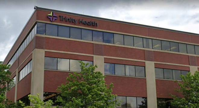 One of the buildings at the Trinity Health offices in Livonia.