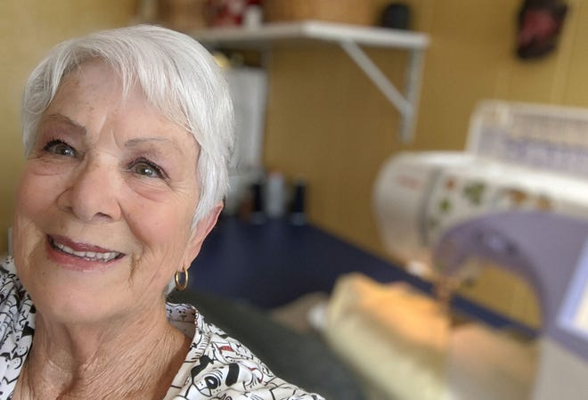 Normally Jeannette Childers, a widow who's 77 and lives in Mesa, is out and about, playing golf and visiting friends. Like everyone else, the coronavirus pandemic has her inside. She's not idle but at her sewing machine, making masks for medical personnel.