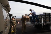 The Arizona National Guard airlifted roughly 300 sets of medical personal protective equipmentto the Navajo Nation on March 31, 2020.