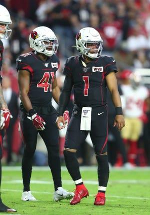 Arizona Cardinals quarterback Kyler Murray (1) and running back Kenyan Drake (41) could have very big seasons in 2020.