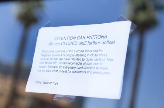 The Taste of Tops bar in Tempe is closed due to the COVID-19 outbreak.