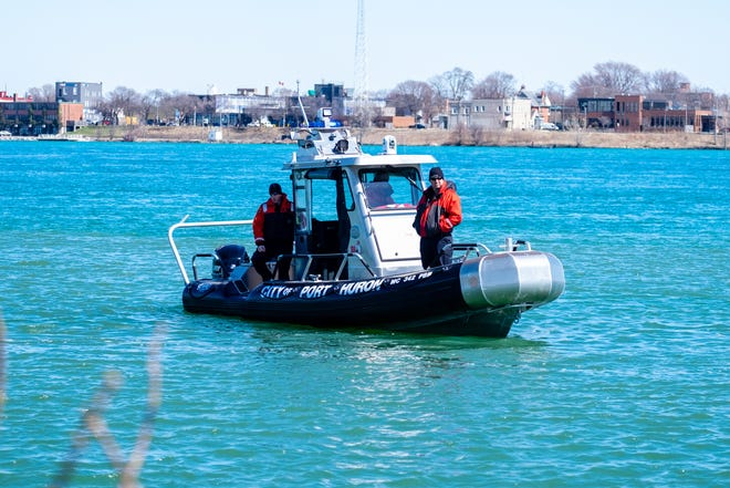 Crews were called to the St. Clair River Thursday afternoon, April 2, 2020.