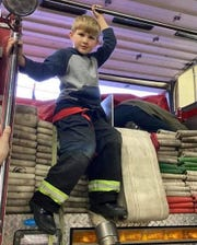 Beckett Louckes, 8, decided that he wanted to help out his local first responders during the COVID-19 pandemic by raising money for free lunches.