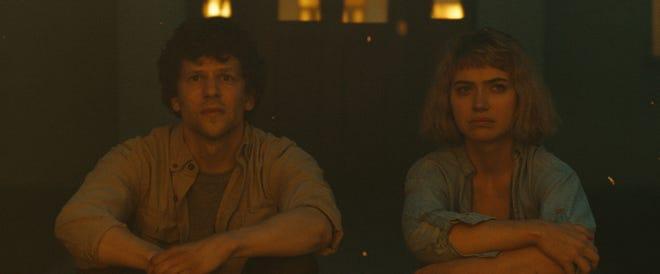 """Jesse Eisenberg and Imogen Poots in the film """"Vivarium."""" (Courtesy Mongrel Media/TNS)"""
