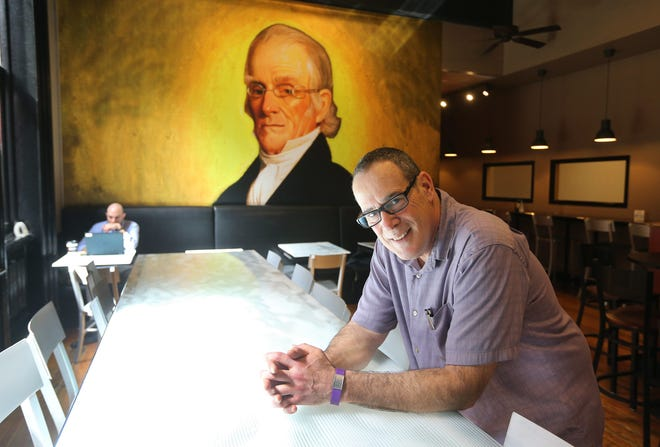 Michael Ellman, owner of Founders Cafe, hosted a Seder in his downtown restaurant for three years. He had to cancel in 2020.