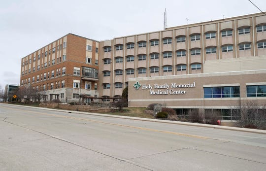 Holy Family Medical Center as seen, Wednesday, April 1, 2020, in Manitowoc, Wis..