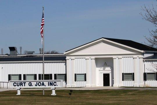 An exterior of Curt G. JOA, Inc. as seen Thursday, April 2, 2020, in Sheboygan Falls, Wis.