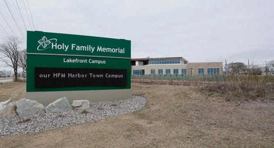 As seen from the street Holy Family Memorial Lakefront Campus as seen, Wednesday, April 1, 2020, in Two Rivers, Wis..