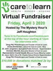 Care to Learn is teaming with The Mystery Hour to host a virtual fundraiser Friday. Donations will be matched by both Great Southern Bank and Pitt Technology Group.