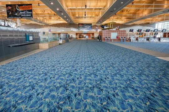 Very few people were passing through the Springfield-Branson National Airport on Thursday. The airport has seen a massive decrease in travel since the outbreak of the coronavirus.