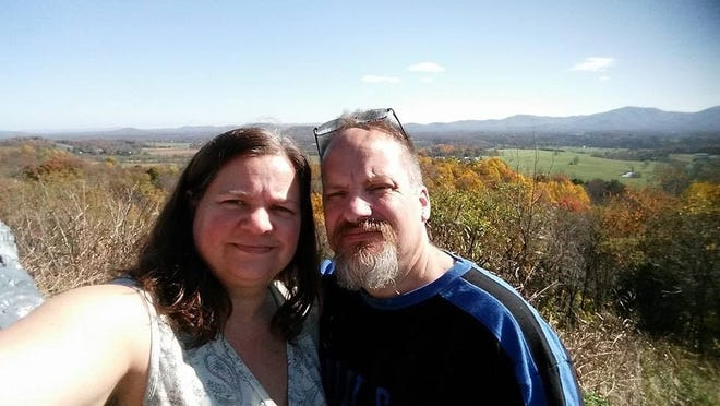 Christine and Richard Gimbert have been living apart during the COVID-19 outbreak because Christine in immunocompromised and Richard is a Respiratory Therapist at Augusta Health.