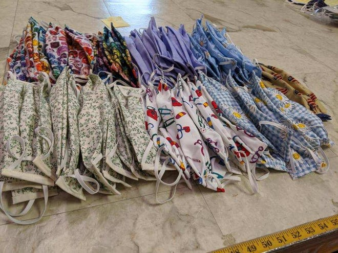 Song Eavey sews masks for hospitals, healthcare workers and the community for free.