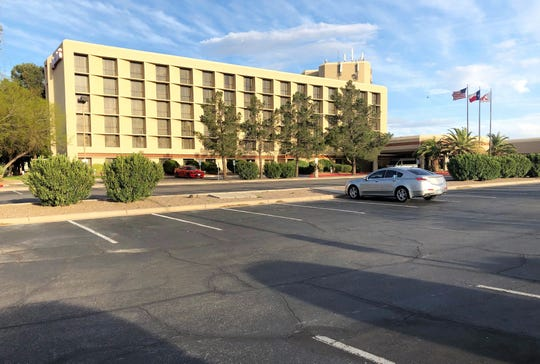 The parking lots are mostly empty at the Marriott El Paso Hotel at 1600 Airway Blvd. The hotel's 296 rooms are mostly vacant due to coronavirus-related business and travel restrictions.