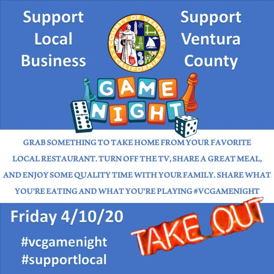 Shawn Stewart of Thousand Oaks is launching Ventura County Game Night as a way to help local restaurants struggling amid the coronavirus pandemic.