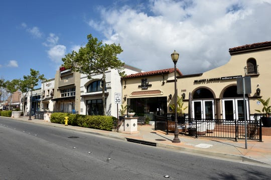 Businesses closed in the Old Town area of Camarillo and other parts of Ventura County to curb the spread of COVID-19. Most businesses have been allowed to reopen, but economic experts have warned that recovery won't occur quickly.