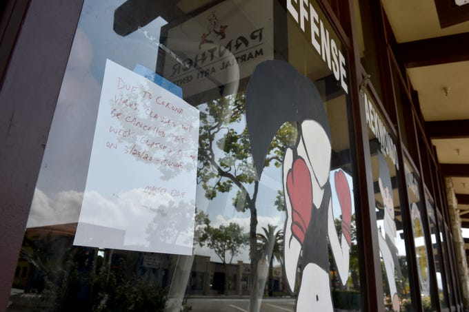 Businesses have closed throughout Old Town Camarillo as government agencies continue to urge social distancing measures to curb the spread of COVID-19.