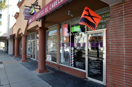 Businesses have closed throughout Downtown Oxnard as government agencies continue to urge social distancing measures to curb the spread of COVID-19.