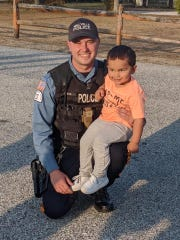 Millville police officer Anthony Loteck helped organize a parade the department put on for 3-year-old Elijah Washington, whose birthday party was canceled due to the coronavirus pandemic.