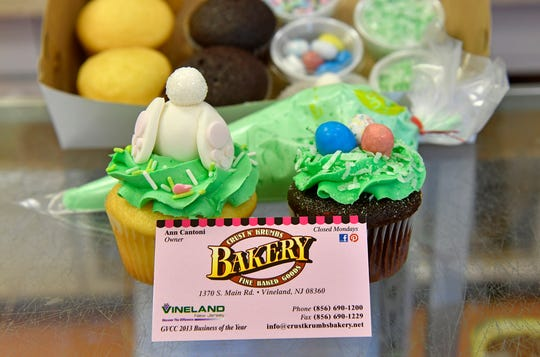 Crust N' Krumbs Bakery in Vineland offers a do-it-yourself cupcake decorating kit, pictured here on Thursday, April 2, 2020.