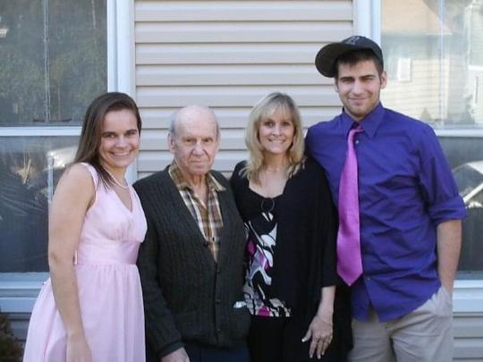 The Bybel family, from left to right: Jennifer Bybel-Lown, Lawrence Girsch, AnnMarie Bybel, Steven Bybel