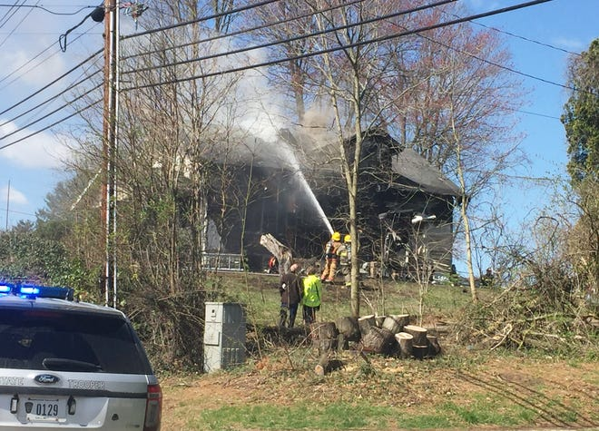 Firefighters from several agencies fought a fire on East Pike near the airport exit Thursday morning.