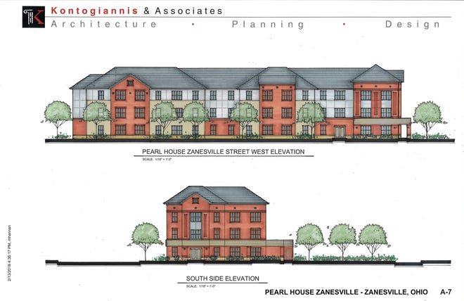 An artists rendering of the Pearl House, which will be built on South Third Street in downtown Zanesville.